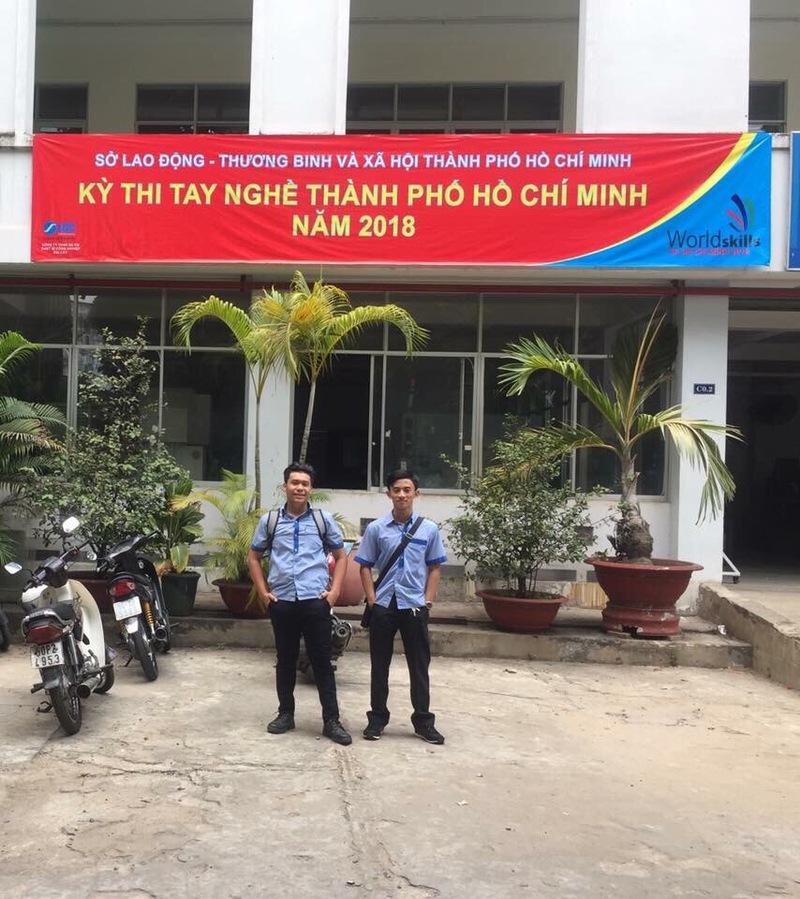 Học sinh khoa Cơ khí tham gia kỳ thi tay nghề TPHCM năm 2018